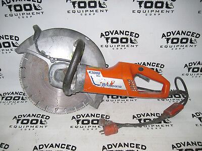 """Husqvarna K3000 Wet 14"""" Electric Powered Hand Held Concrete Cut Off Saw w/ Water"""