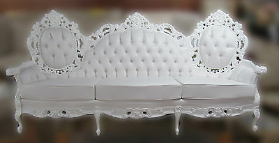 Classic SOFA Couch BAROQUE Italian ROCOCO French LOUIS XV White Wedding Antique