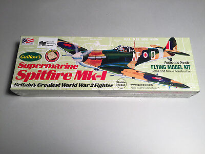 Guillow's Spitfire MK-1 Holzbausatz Lasercut WWII Guillow Guillows KIT 504