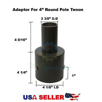 Adapter for 4 Inch Round Pole Tenon for ShoeBox Pole Parking Street Light Led
