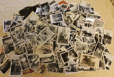 Large Lot of 265 Vintage Photos Photographs Pictures Most B & W 1930s to 1970s