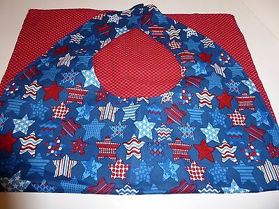 Adult Bibs/clothing protectors for adults, seniors, disabled RED/WHITE/BLUE STAR
