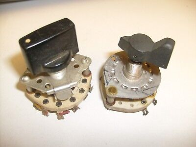 2 lot  Rotary Switch Ceramic Vintage from radio shop, one CRL2503 Centralab / f3