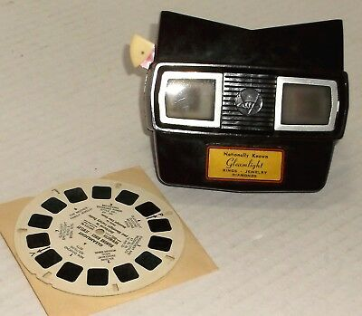 VIEW-MASTER vintage GLEAMLIGHT JEWELRY COMMERCIAL REEL w/ PROMO VIEWER model E