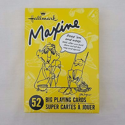 Hallmark Maxine Big Playing Cards Read 'Em And Weep Quotes On Cards Large 5 Inch