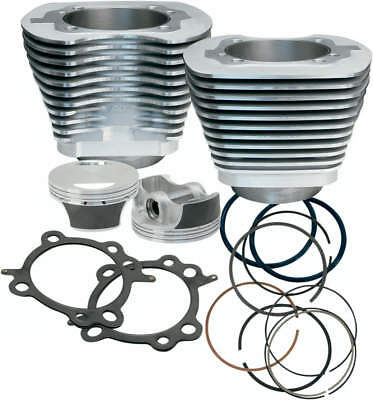 """S&s 97"""" Big Bore Cylinder & Piston Kit Harley 99-06 Twin Cam 910-0201 Silver"""