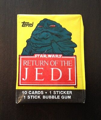 1983 Topps Return of the Jedi Series 1 - Wax Pack (Jabba Variation)