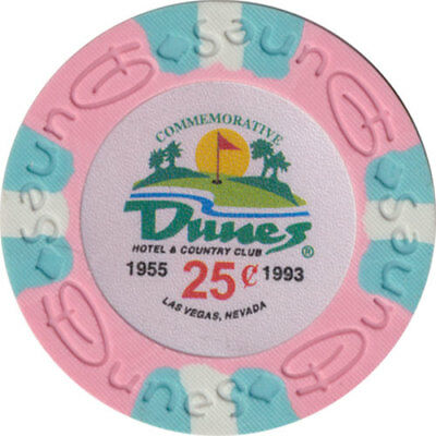 Poker Chip (1) 25¢ Dunes Commemorative 9 gram Clay Composite FREE SHIPPING*