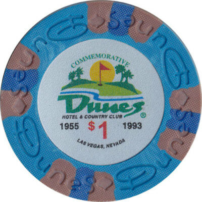 Poker Chip (1) $1 Dunes Commemorative 9 gram Clay Composite FREE SHIPPING*