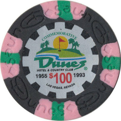 Poker Chip (1) $100 Dunes Commemorative 9 gram Clay Composite FREE SHIPPING*