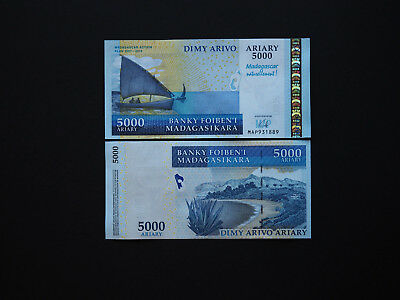 Madagascar 5000 Ariary Quality Commemorative Issue with great images    MINT UNC