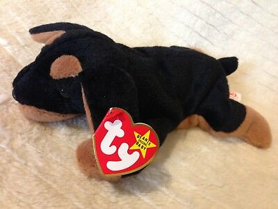 Ty Beanie Baby Toy/Collectible DOBY the Dog Rare Retired MWMTs!