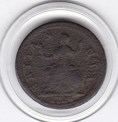 1724   King  George  Farthing  (1/4d)  British  Coin