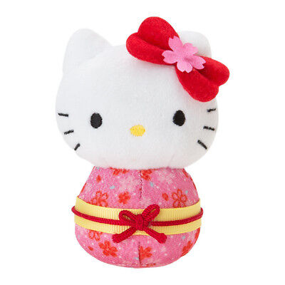 Hello Kitty hand ride mascot Doll (Sakura Kimono) Cherry Blossoms Sanrio NEW F/S