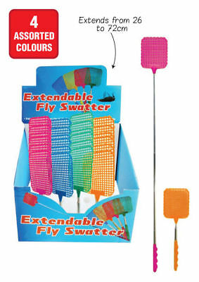 Extendable Handle Telescopic Insect Fly Swat Swatter Mosquito 72cm Extends NEW
