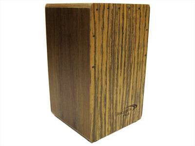 PERCUSSION PLUS CAJON Walnut Front Top Back & Sides Padded Bag