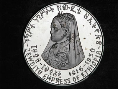 ETHIOPIA 1972 5 Dollars Empress Zewditu Silver Crown Proof