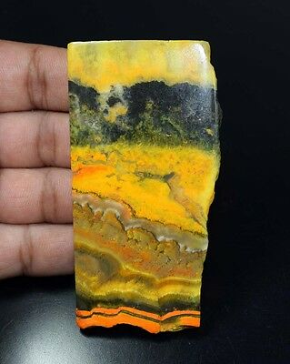 275.05 Ct. 100 % Natural Bright Shade Bumble Bee Jasper Rough Slab For Cabochons