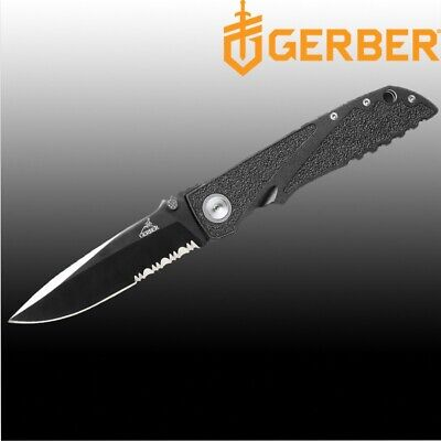 """Gerber Myth E-Z Open 3.5"""" High Carbon S. Steel Blade Hunting Knife with Sheath"""