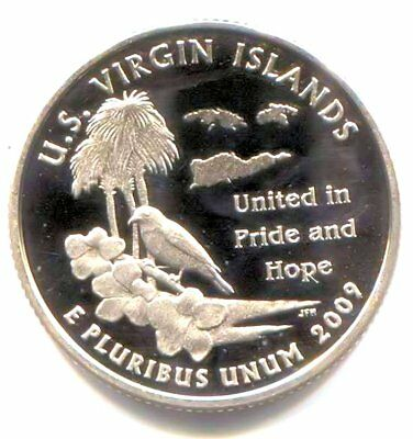 2009 S US Virgin Islands Cameo Proof Territorial Quarter Coin San Francisco Mint