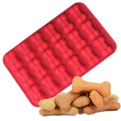 18 Cavity Dog Bone Silicone Cake Decor Mold Chocolate Biscuit Ice Cube Mould LG