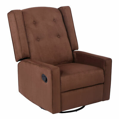 New Swivel Glider Recliner Sofa Chair Gliding Upholstered Nursery Room New