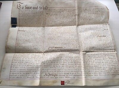 LAC  RARE and NICE LARGE British DOUBLE Parchment Vellum 1785