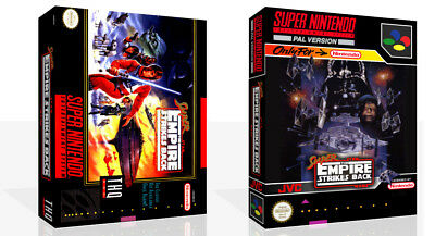 Super Star Wars The Empire Strikes Back SNES Replacement Game Case Box (No Game)
