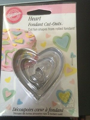 Wilton Heart Fondant Cut-Outs Brand New In Pack