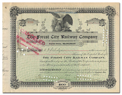 Forest City Railway Company Stock Certificate