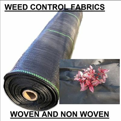 WOVEN & NON WOVEN weed control fabric mulch mat landscape garden prevention