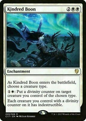 Kindred Boon ~ Commander 2017 ~ MINT/NearMint ~ Magic The Gathering