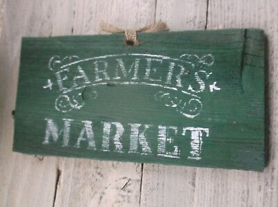 Primitive FARMERS MARKET farmer's vintage old time antique weathered wood sign