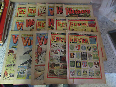 Collection Of 1950's & 1970's Comics The Rover, Warlord & Victor