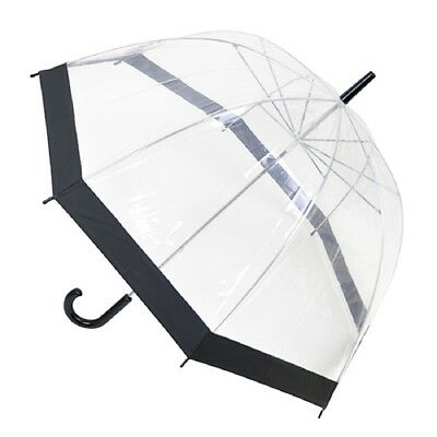 Adults  Ladies Womens Clear Dome Umbrella Transprent Parasol Assorted Colors