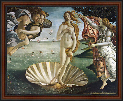 The Birth of VENUS (Primavera) by Sandro Botticelli. Framed Fine Art Print