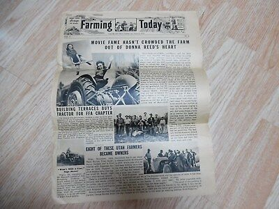 It's a Wonderful Life w/Donna Reed on a FERGUSON TRACTOR Vtg Farming Today WWII