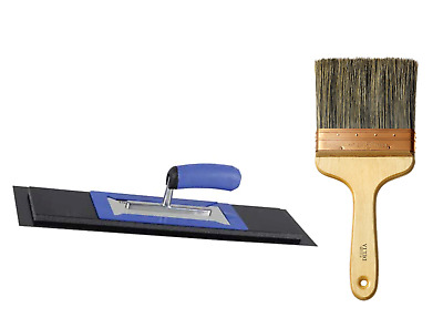 "REFINA Plaziflex Skim Trowel 14""  Speed Skimming & 6"" Delta Wall Brush"