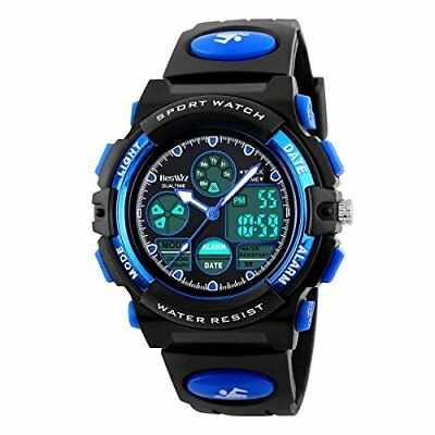 BesWLZ Boys Watches Multifunction Dual Time Digital Watches Alarm Sports Waterpr