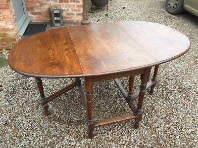 Antique Georgian style Oak Gate Leg table - Drop Leaf (Folding)