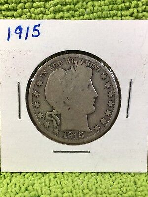 1915-P Barber Half Dollar - VERY RARE KEY DATE - IN GUARDHOUSE 2X2