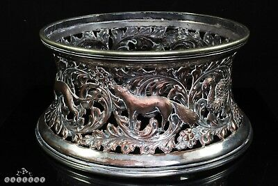 Large Early Victorian Silver Plated on Copper Irish Potato / Dish Ring c.1840