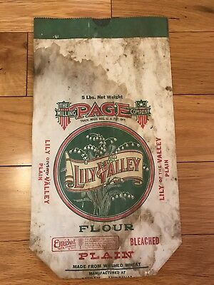 Page Milling Company 5lb Lilly of the Valley flour bag from Luray, Va