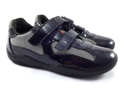 3df8966808c PRADA America s Cup Blue Mesh Patent Leather Sneakers Women s Shoes Size US  (5)