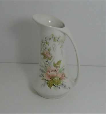 """Melba Ware Staffordshire tall Urn Style Jug with Floral Pattern 7 ¼"""" High"""