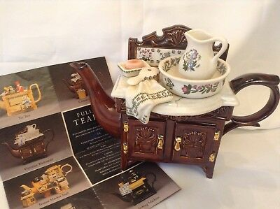 Cardew Portmeirion Novelty Collectable Large Teapot Victorian Washstand Perfect