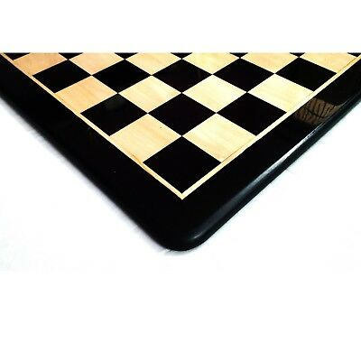 21 inches Large Solid Ebony & Maple Wood Chess board - Square of 55 mm