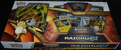 Raichu GX Special Collection Box Shining Legends Pokemon Trading Cards Game NEW