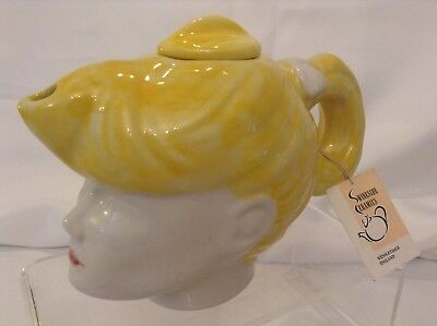Teapottery Swineside Novelty Collectable Teapot Rockerbilly Girl Grt Condtion