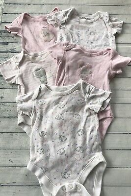 Baby Girls Clothes Bundle 3-6 Months -Tatty Teddy Babygrows / Vests Tops